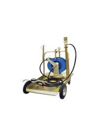 Pneumatikus csévélődobos olajfeltöltő kocsi