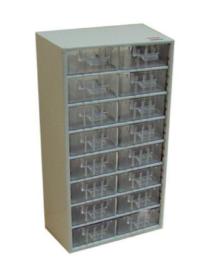 Tároló doboz 16 fiókos