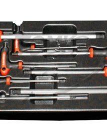 T-nyelű gömbvégű imbuszkulcs készlet fiókmodul