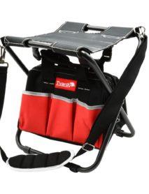 Összecsukható szék szerszámos táskával