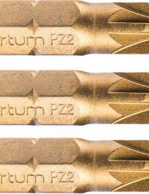 """Bit készlet S2 titanium bevonattal PZ2x25mm 1/4"""""""