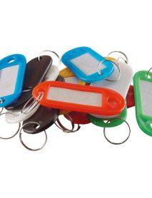 Műanyag kulcscímke készlet